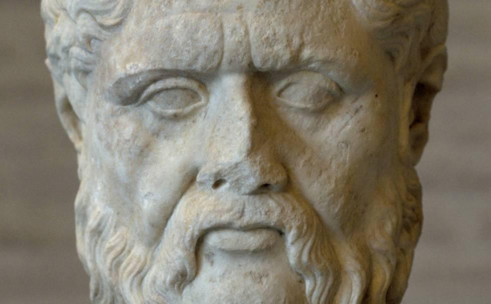 Busto del filósofo griego Platón.