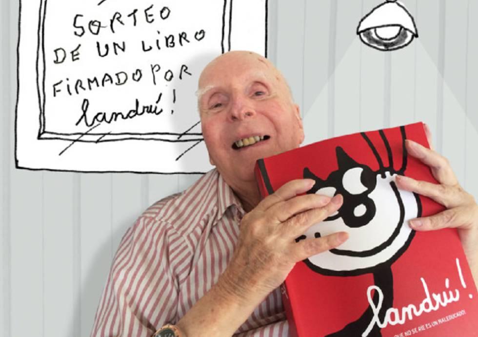 """Landrú en 2016, con su libro """"Llandrú. El que no se rie es un maleducado"""""""