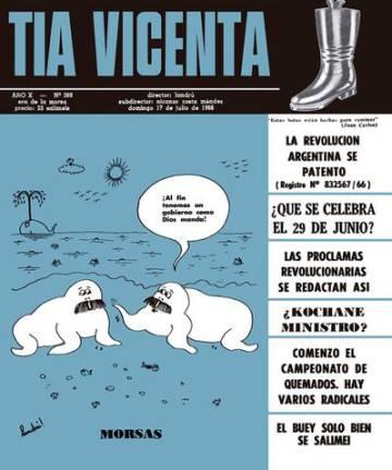 Portada de Tía Vicenta censurada por la dictadura.