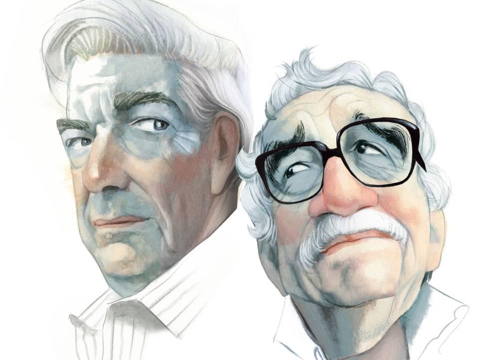 Mario Vargas Llosa y Gabriel García Márquez, vistos por Fernando Vicente.