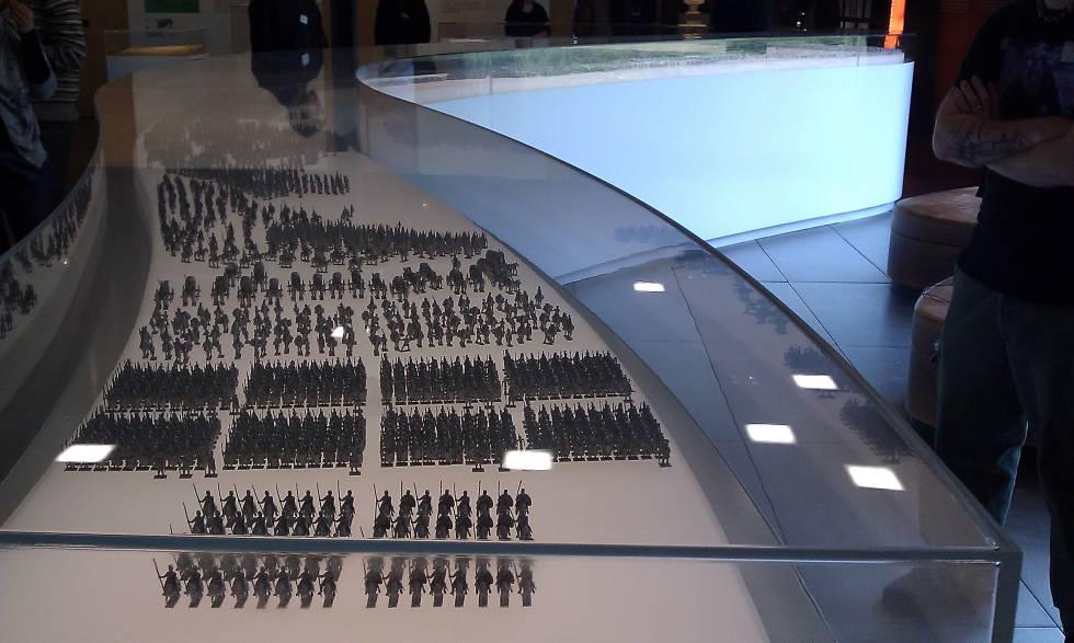 Las legiones de Varo en miniatura en el Museo de Kalkriese.