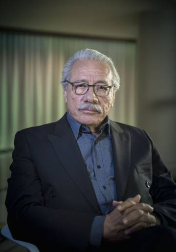 Edward James Olmos, ayer en Madrid.