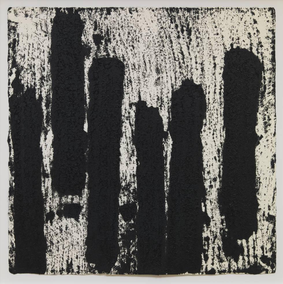 'Rotterdam Vertical #10', dibujo de Richard Serra expuesto en el museo Boijmans.