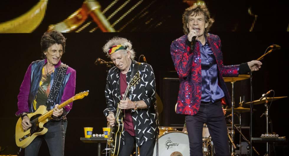 Los Stones durante un concierto en 2016