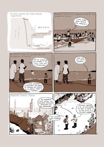 Una página de 'Sansamba', de Susanna Martín e Isabel Franc.