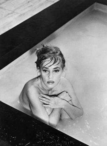Jeanne Moreau, en el rodaje de 'Eva', en 1961.