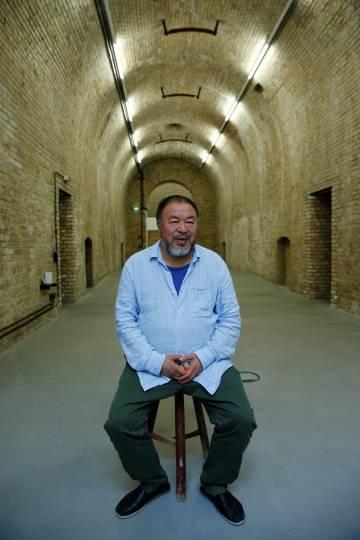 Ai Weiwei, en su estudio de Berlín, el pasado 13 de julio.