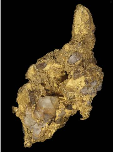 Gold nugget weighing 135 grams found in Casas de Don Pedro (Badajoz).
