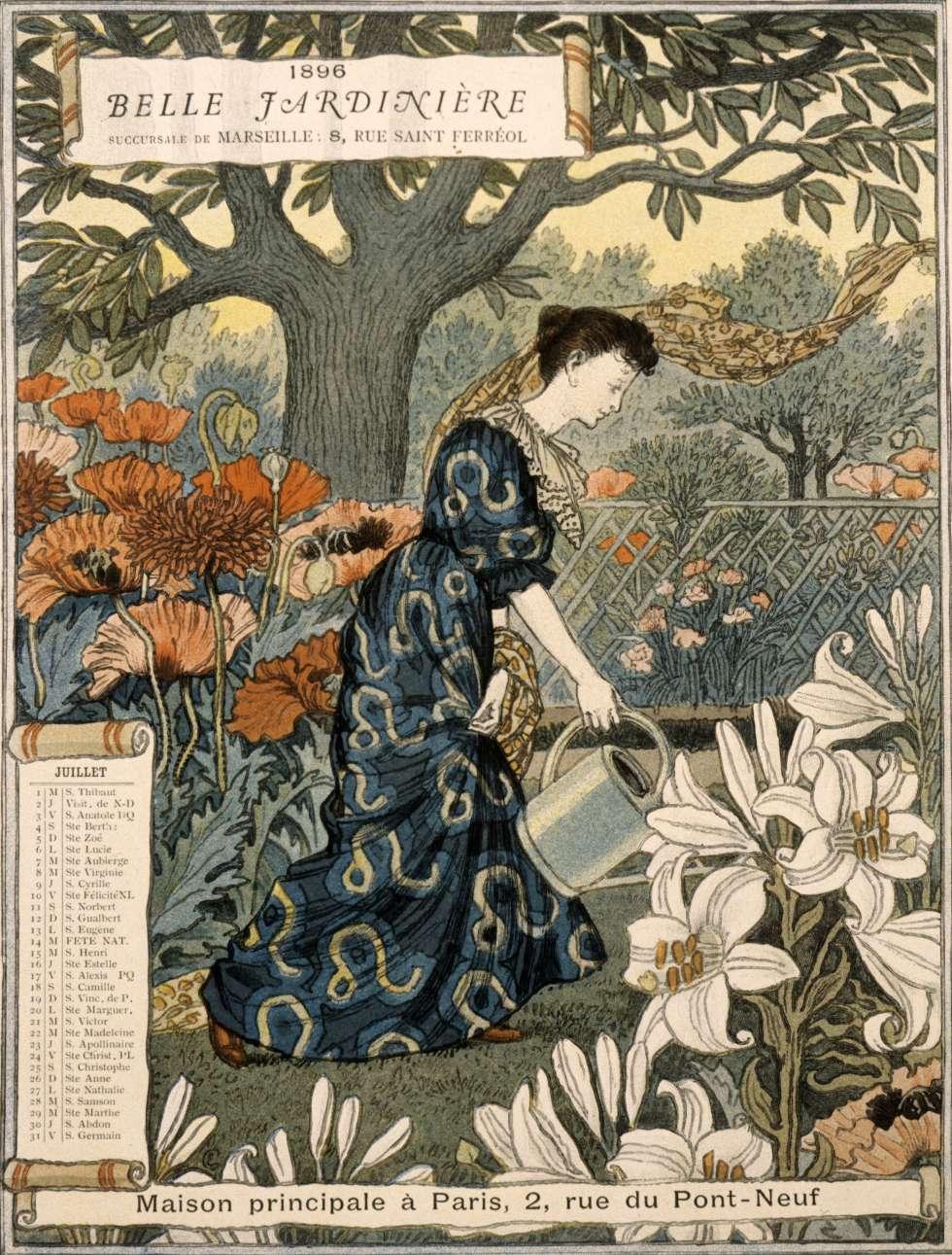 Dibujo del francés Eugene Grasset de 'La Bella Jardinera' (1896).