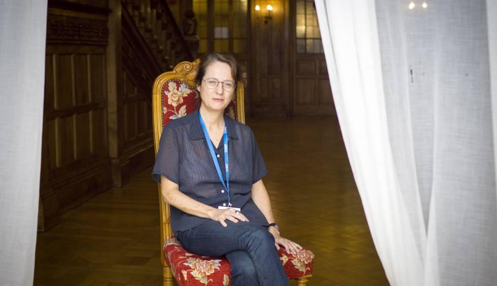 La escritora Marta Sanz, el pasado lunes, en el Palacio de la Magdalena, en Santander.