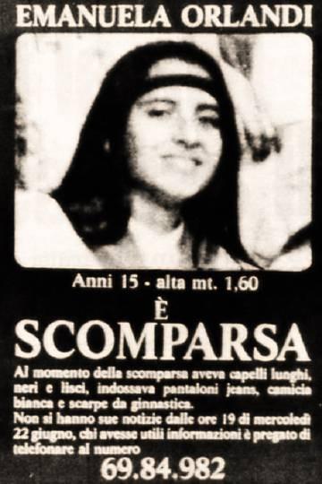 Anuncio de la desaparición de Emanuela Orlandi que se colgó en las calles de Roma.