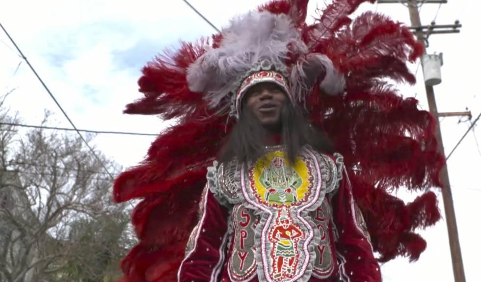 Fotometraje del documental sobre la celebración de Mardi Gras
