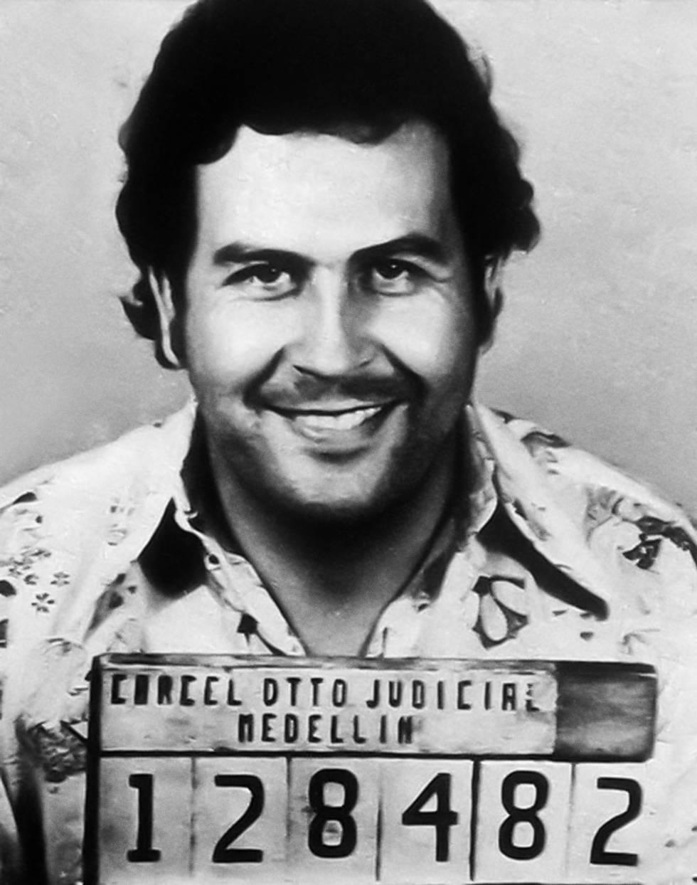 Fotografía policial de Pablo Escobar.