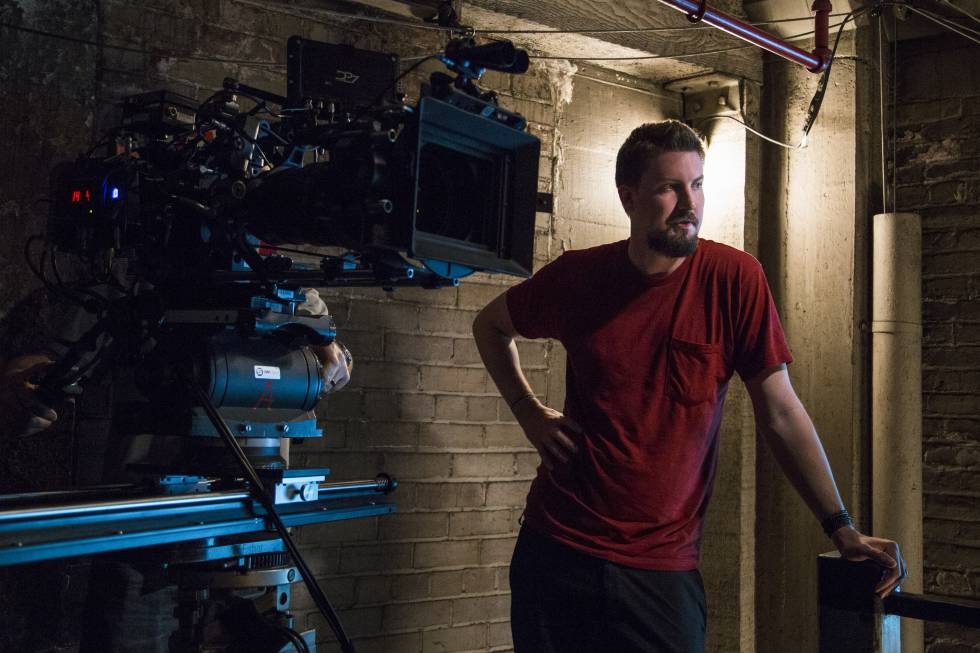 Adam Wingard en el rodaje de 'Death Note'.