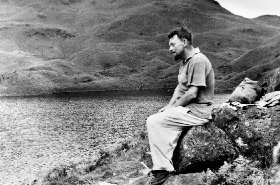 Malcolm Lowry en una imagen de 'Volcano: An inquiry into the Life of Malcolm Lowry'.