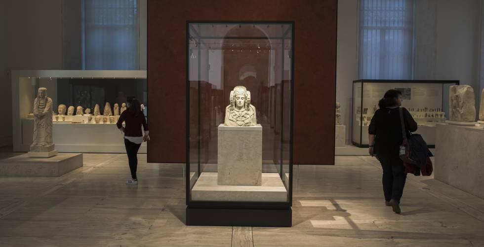 La Dama de Elche, en la sala de Protohistoria del Museo Arqueológico Nacional.