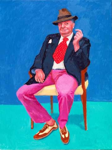 Barry Humphries (2015), de David Hockney. Richard Schmidt