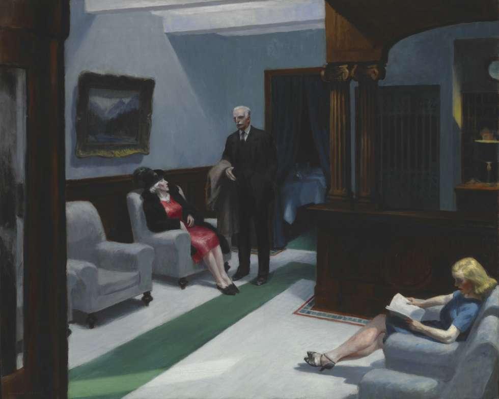 'Hotel Lobby' (1943), de Edward Hopper.