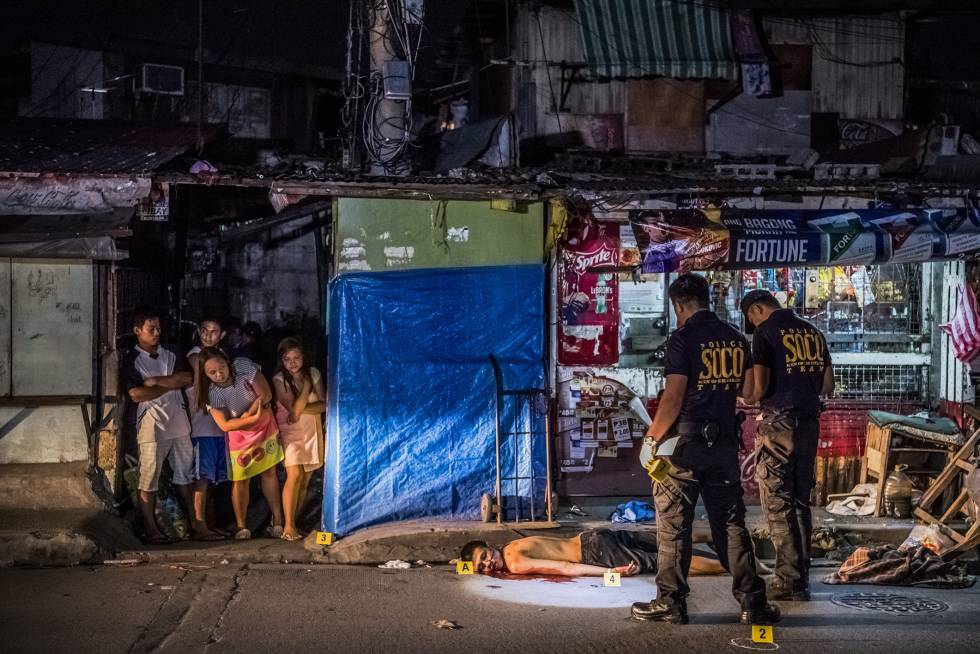 Michael Araja, abatido cuando iba a comprar tabaco en Manila, en octubre de 2016.