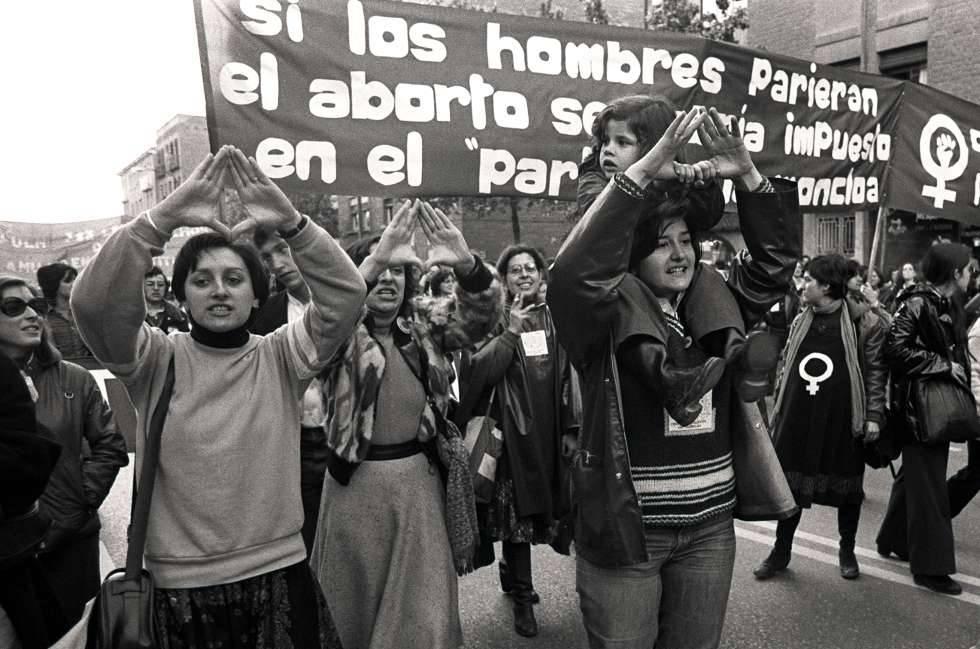 Manifestación a favor del aborto en Madrid el 5 de mayo de 1978.