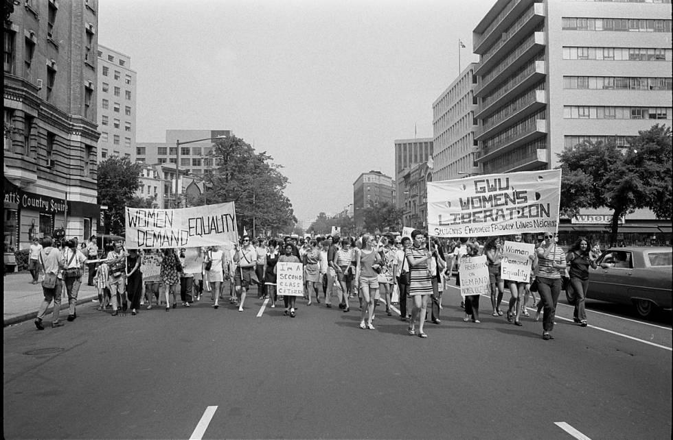 Marcha de mujeres en Washington en 1970.