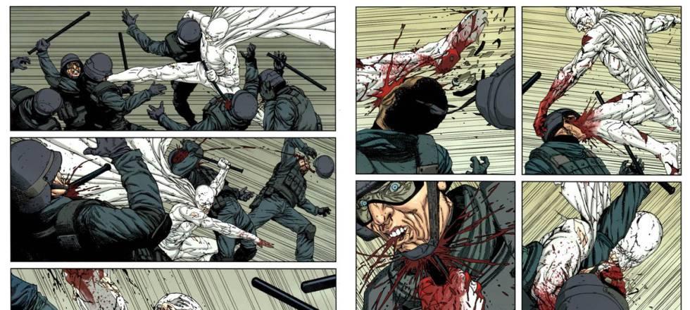 Viñetas del cómic 'Nemesis', parte del Millarworld.
