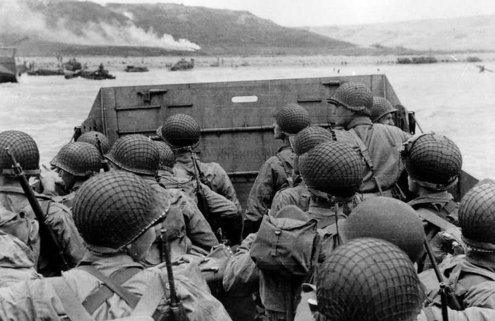 Lancha de desembarco en la batalla de Normandía, en 1944.