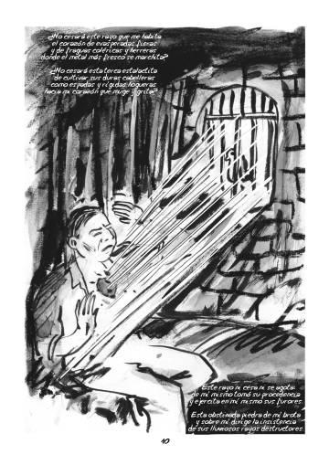 Una de las páginas del cómic 'La voz que no cesa'.