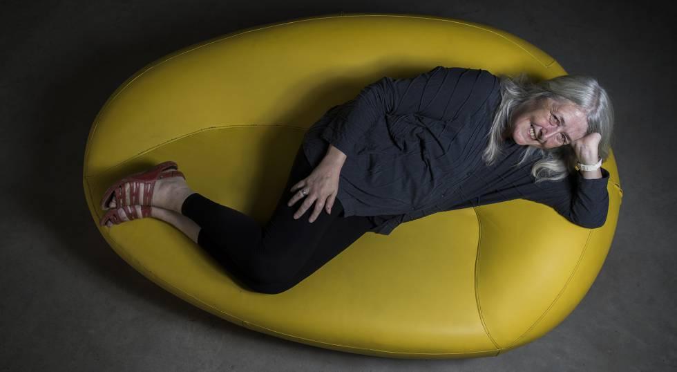 Mary Beard, fotografiada este viernes en la Fundación Telefónica.