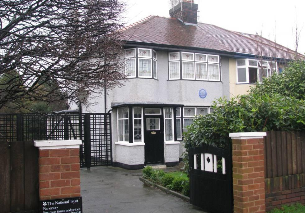 La casa de John Lennon en  Liverpool (1945-1963).