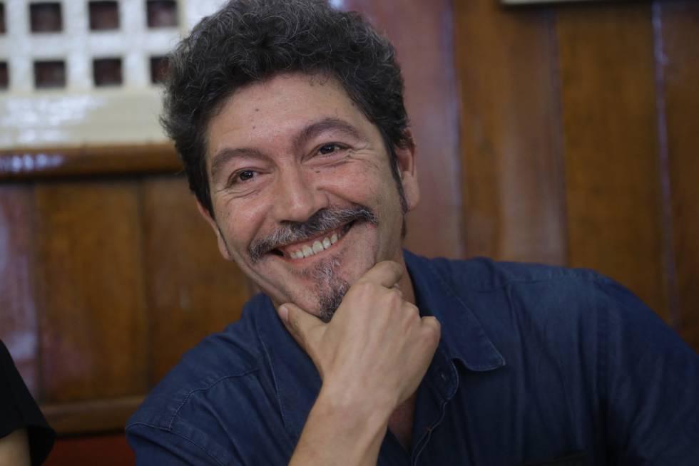El escritor Pedro Antonio González Moreno este jueves en Madrid.