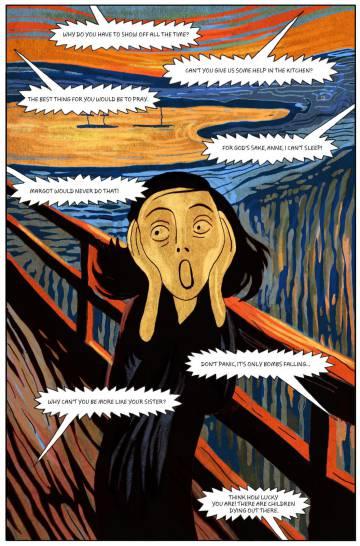 Una viñeta de la novela gráfica 'El diario de Ana Frank', de Ari Folman y David Polonsky.
