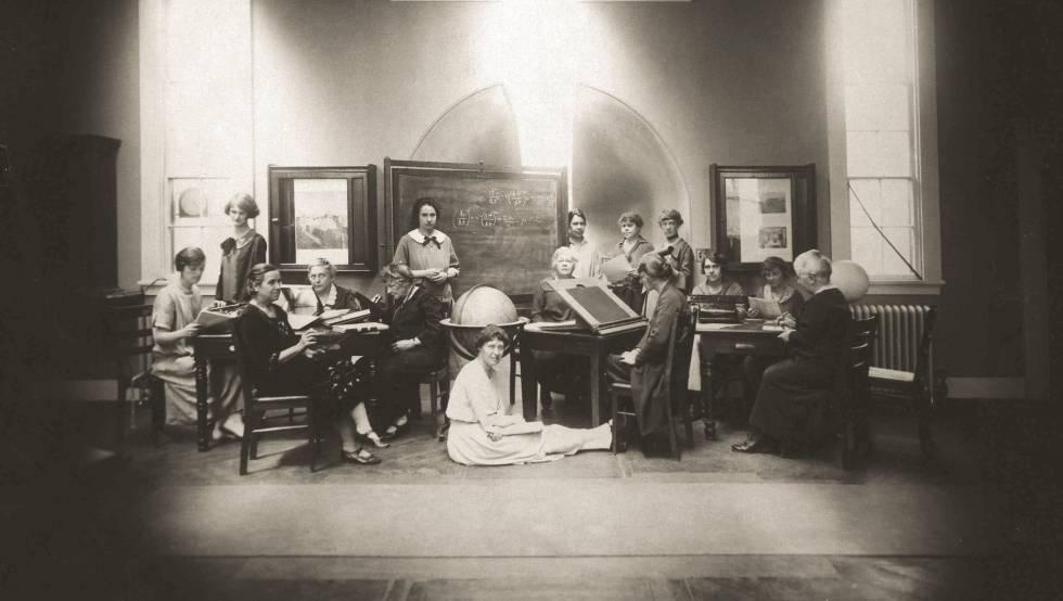 Astrónomas del Observatorio de Harvard en 1925.