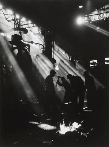 La fragua de Renault, Boulogne-Billancourt, 1950