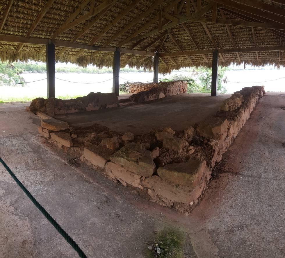 Restos de la casa americana de Cristóbal Colón en La Isabela.