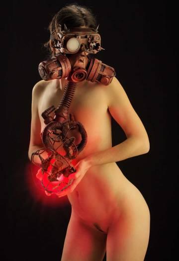 'El corazón sangrante', una de las fotografías la exposición 'Enmascarados'.