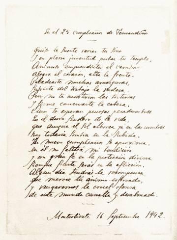 Carta del padre de Fernando Rey a su hijo en su 25 cumpleaños.