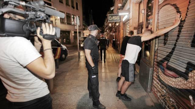 Un momento de la grabación de '091: Alerta Policía' en Tarifa.