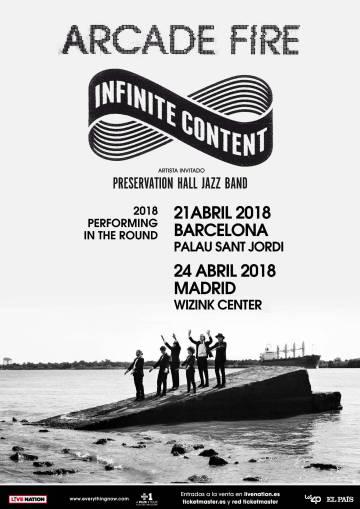 Arcade Fire tocarán en Barcelona y Madrid en abril