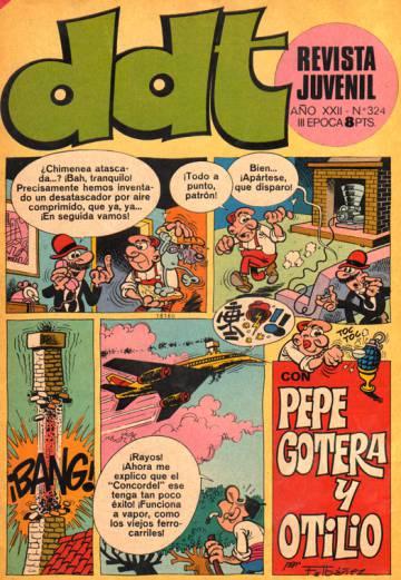 Un número de 'ddt' (en minúscula) con Ibáñez en portada.
