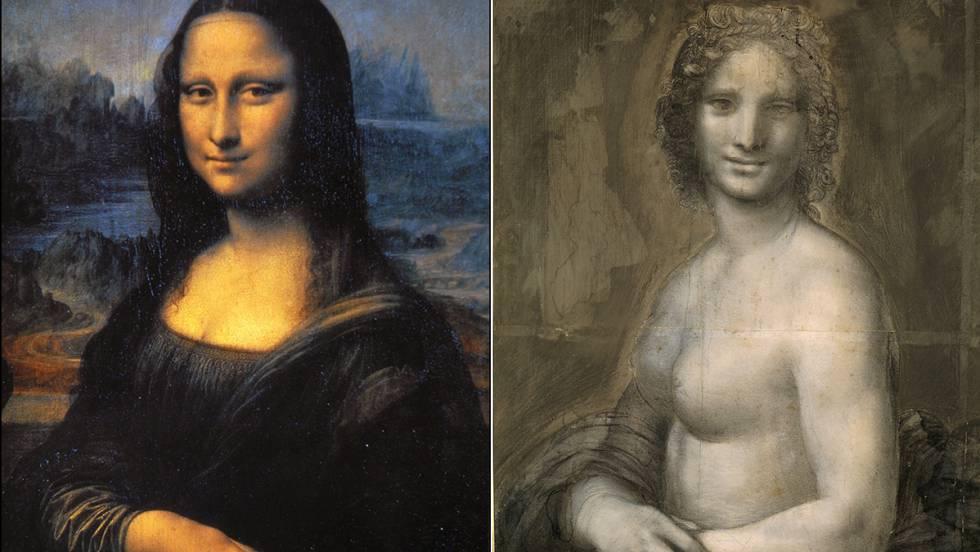 A la izquierda, 'Mona Lisa'. A la derecha, el boceto que investiga el Louvre.