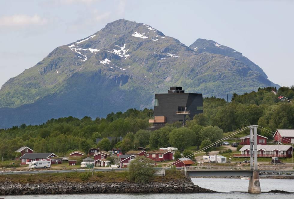 Centro Knut Hamsun en Hamaroy (Noruega), diseñado por Steven Holl.