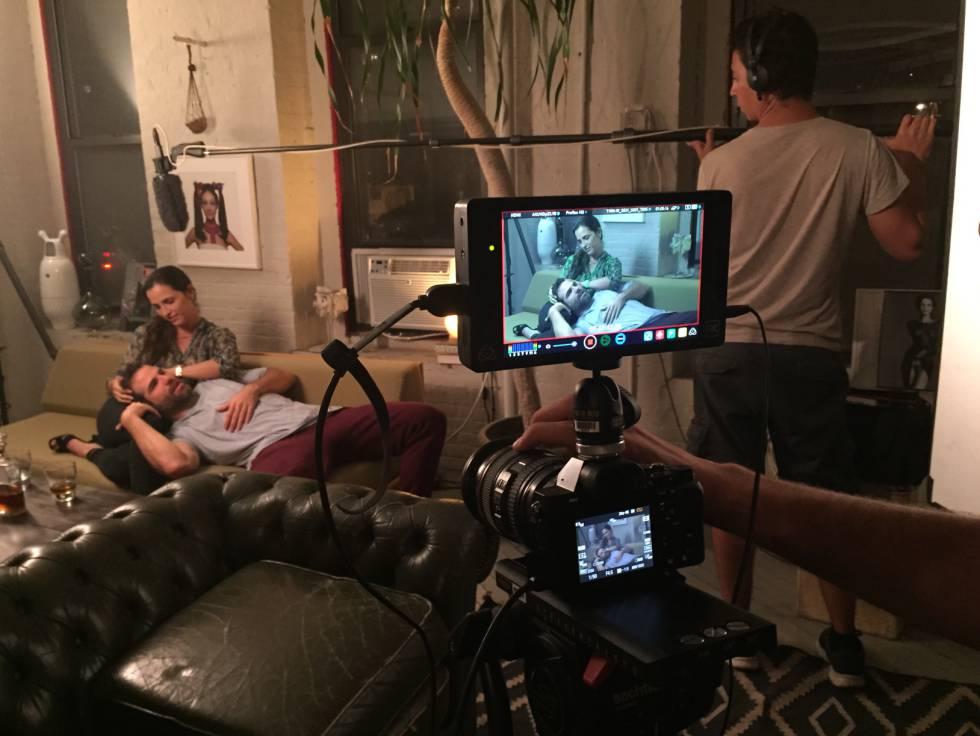 La grabación de la película.