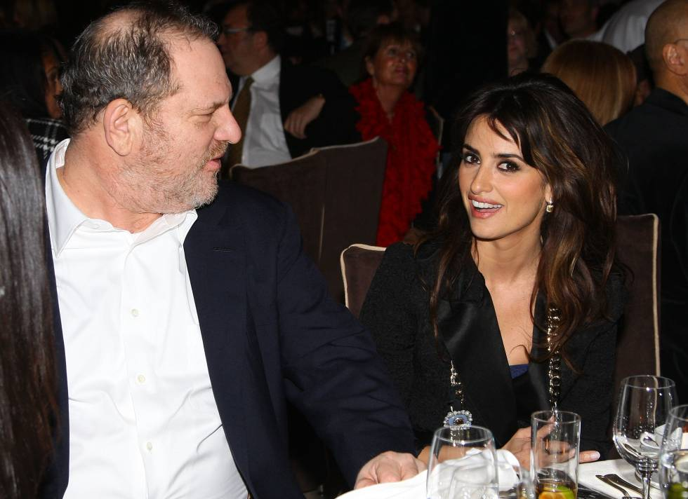 Harvey Weinstein and Penélope Cruz, pictured in New York in 2008.