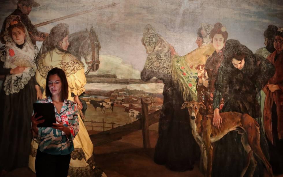 Exposición de Ignacio Zuloaga en la Fundación Mapfre, en Madrid.
