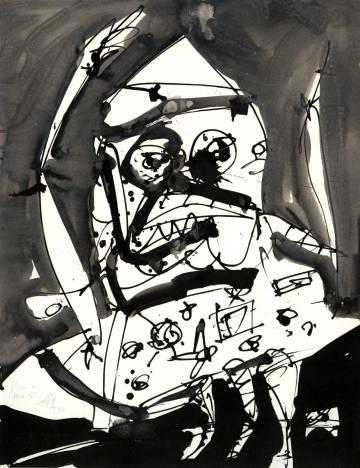 Retrato de Millán-Astray de la serie 'Mentira y sueño de Franco', de Antonio Saura.