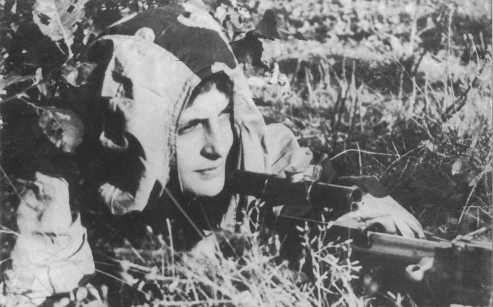 Liudmila Pavlichenko, al acecho.