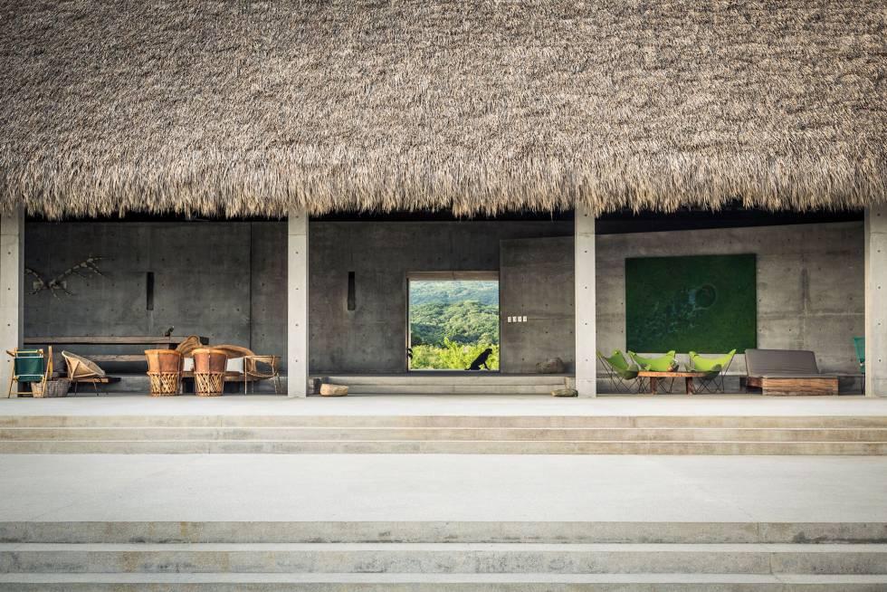 Una de las zonas de Casa Wabi, cercana a Puerto Escondido (Oaxaca).