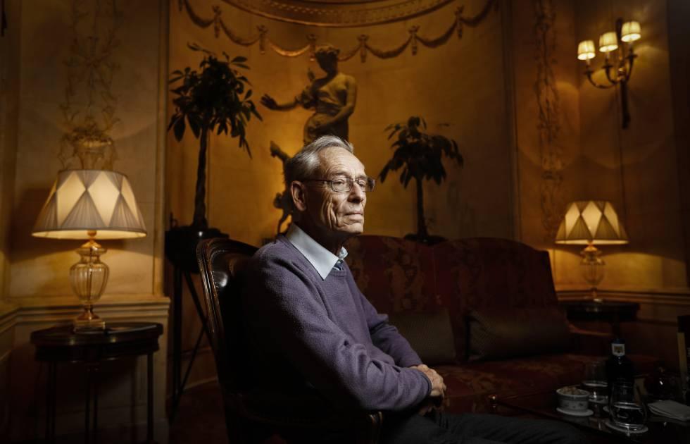 El historiador británico John H. Elliott, esta semana en Madrid.