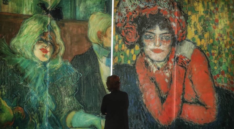 Exposición Lautrec-Picasso, en el museo Thyssen de Madrid.
